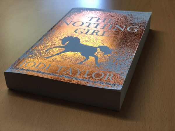 paperback book with a foil finish made by digital book printing