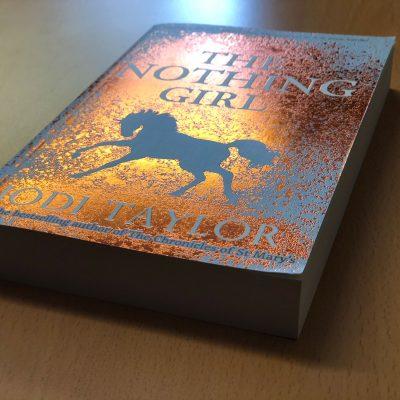 book with glitter cover design